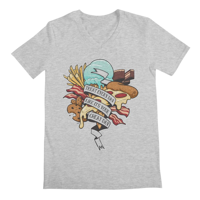 Cheat Day Men's V-Neck by jrieman's Artist Shop
