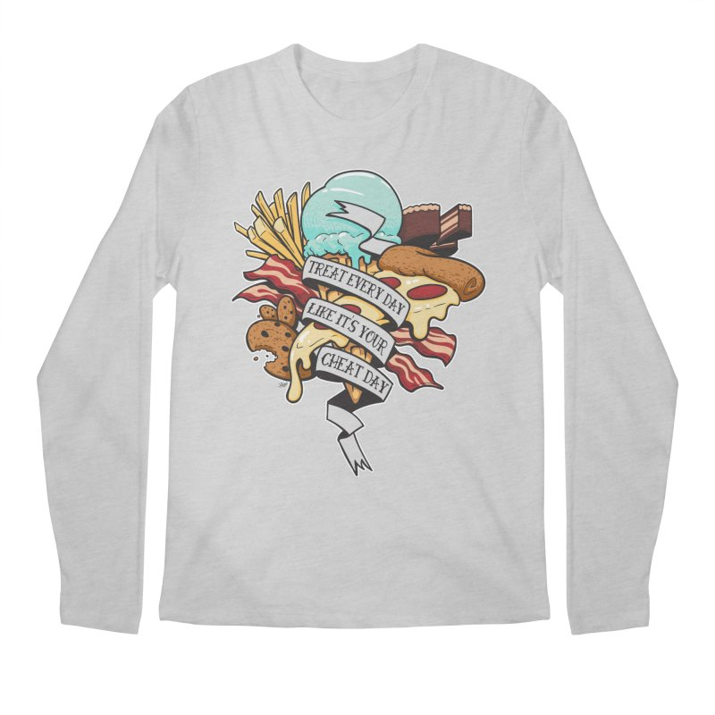 Cheat Day Men's Regular Longsleeve T-Shirt by jrieman's Artist Shop