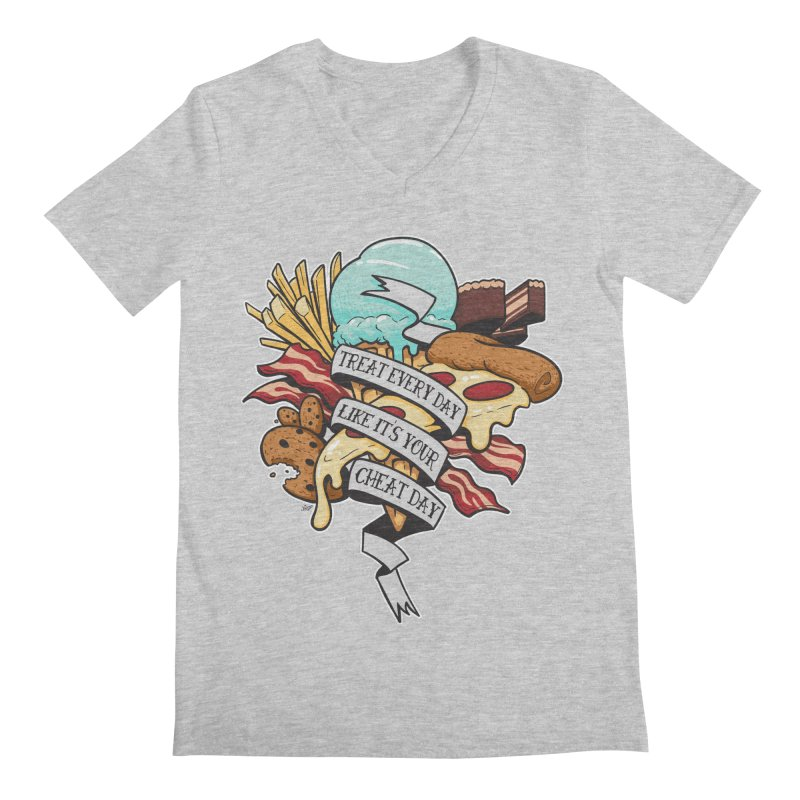 Cheat Day Men's Regular V-Neck by jrieman's Artist Shop