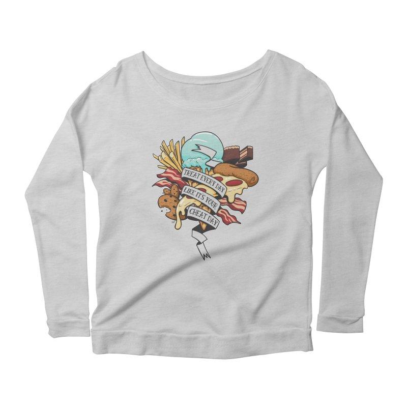 Cheat Day Women's Scoop Neck Longsleeve T-Shirt by jrieman's Artist Shop