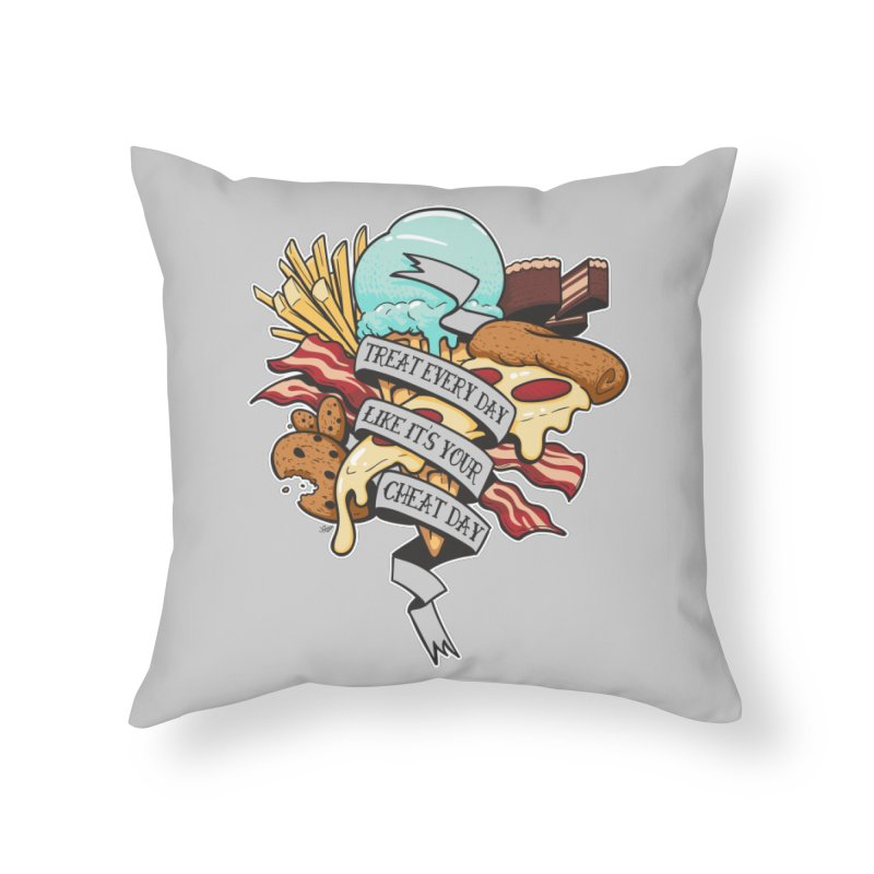 Cheat Day Home Throw Pillow by jrieman's Artist Shop