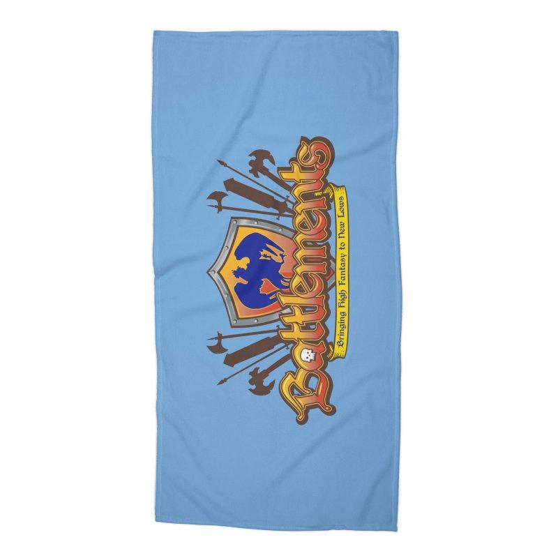 Battlements the Tee Shirt Accessories Beach Towel by jrieman's Artist Shop