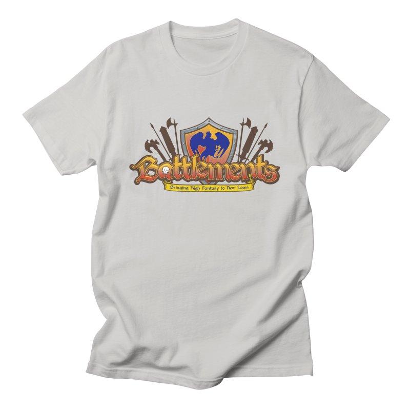 Battlements the Tee Shirt Men's French Terry Zip-Up Hoody by jrieman's Artist Shop