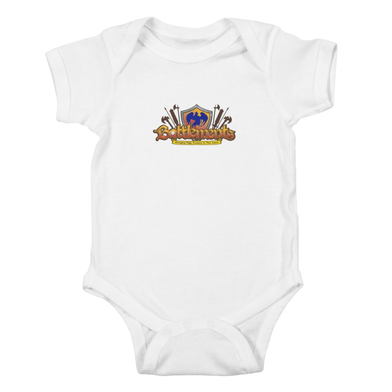Battlements the Tee Shirt Kids Baby Bodysuit by jrieman's Artist Shop