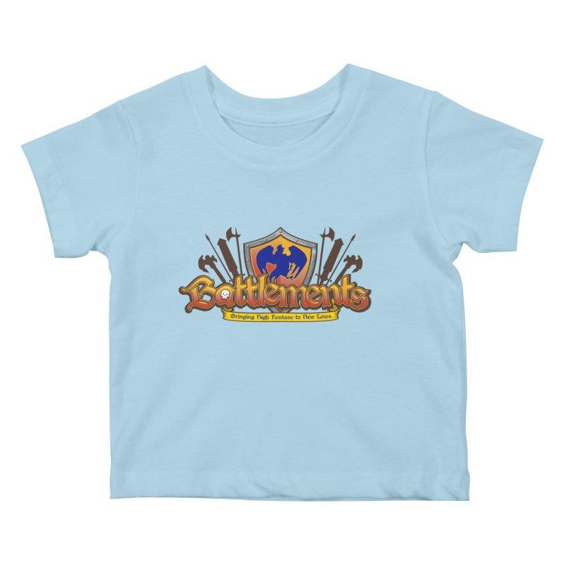 Battlements the Tee Shirt Kids Baby T-Shirt by jrieman's Artist Shop