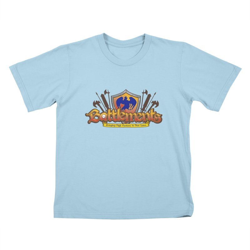 Battlements the Tee Shirt Kids T-Shirt by jrieman's Artist Shop
