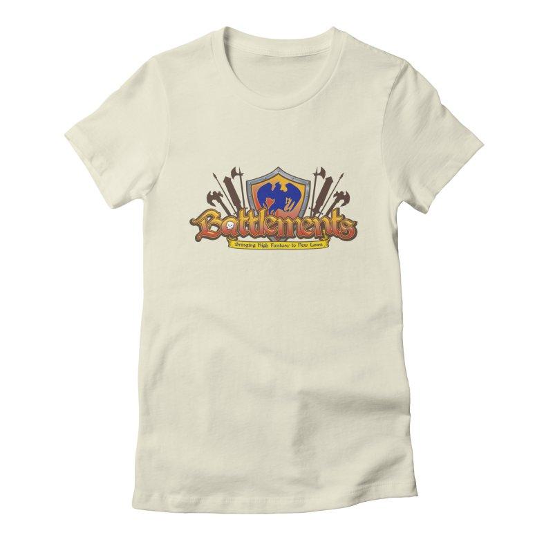 Battlements the Tee Shirt Women's Fitted T-Shirt by jrieman's Artist Shop