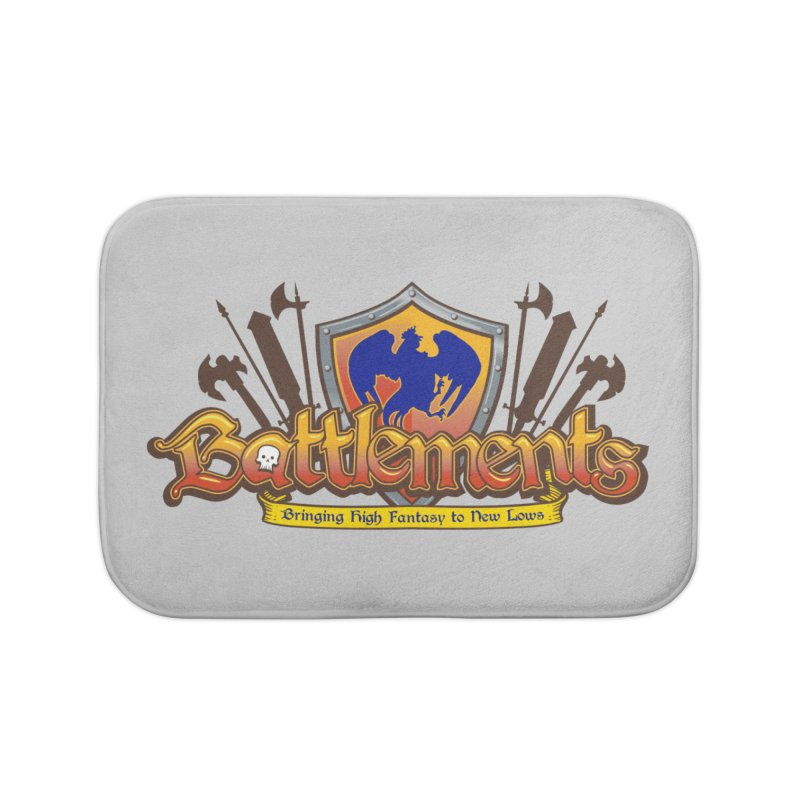 Battlements the Tee Shirt Home Bath Mat by jrieman's Artist Shop