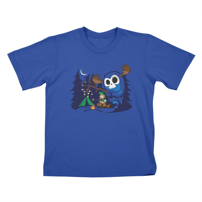 Wendigo Camping  Kids T-shirt by jrieman's Artist Shop