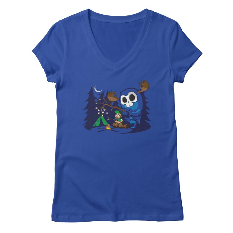 Wendigo Camping  Women's V-Neck by jrieman's Artist Shop