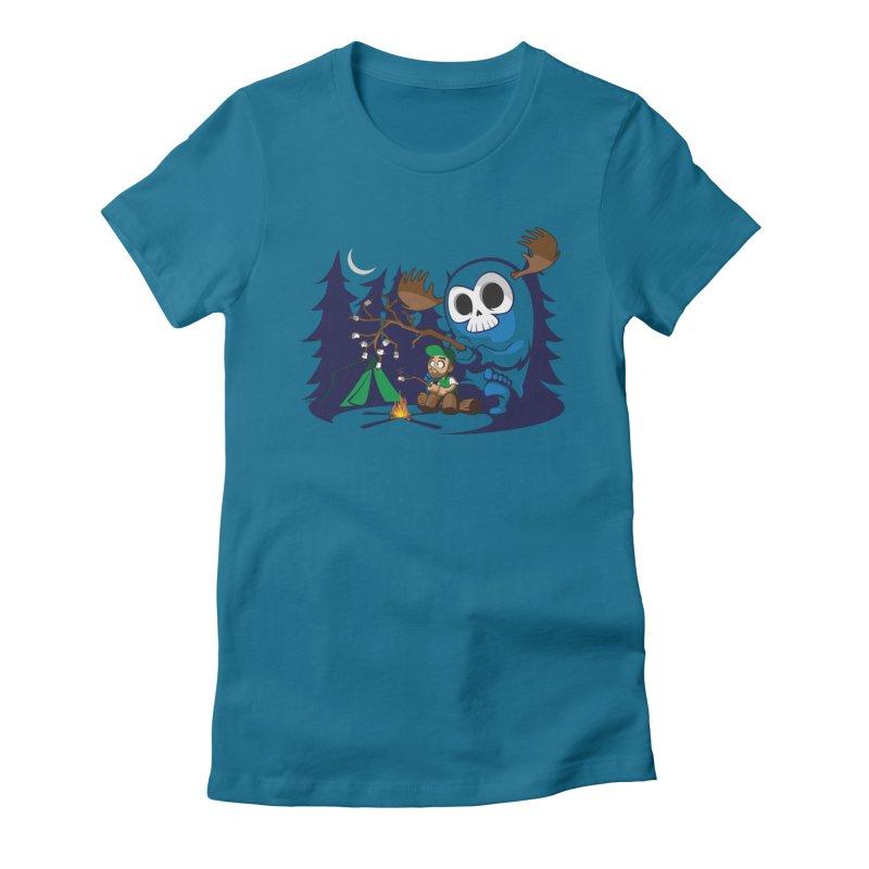 Wendigo Camping  Women's Fitted T-Shirt by jrieman's Artist Shop