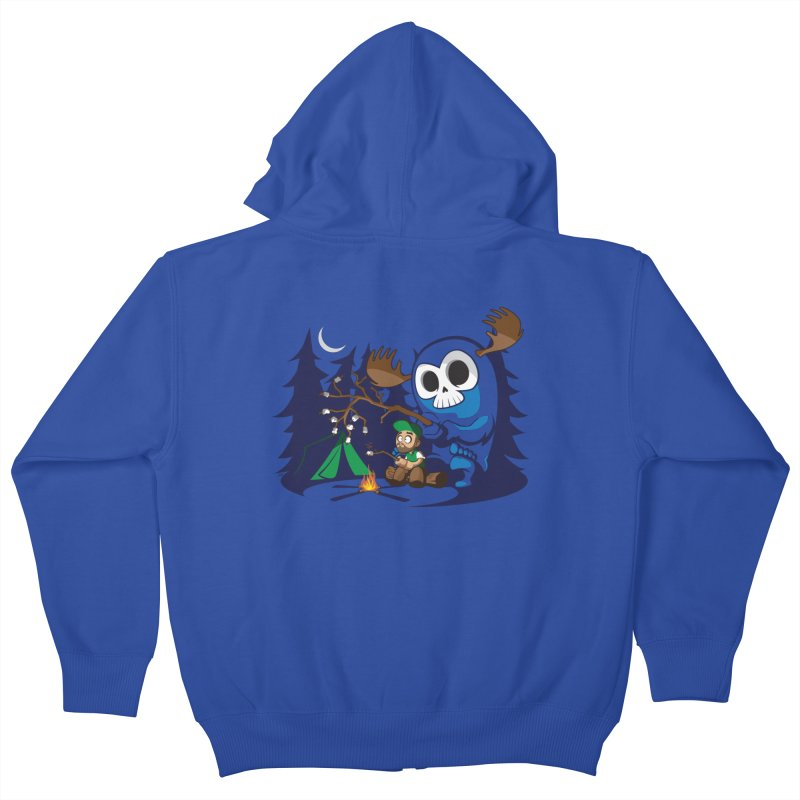 Wendigo Camping  Kids Zip-Up Hoody by jrieman's Artist Shop