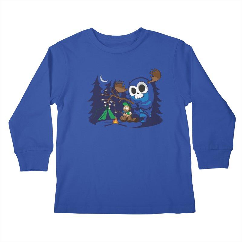 Wendigo Camping  Kids Longsleeve T-Shirt by jrieman's Artist Shop