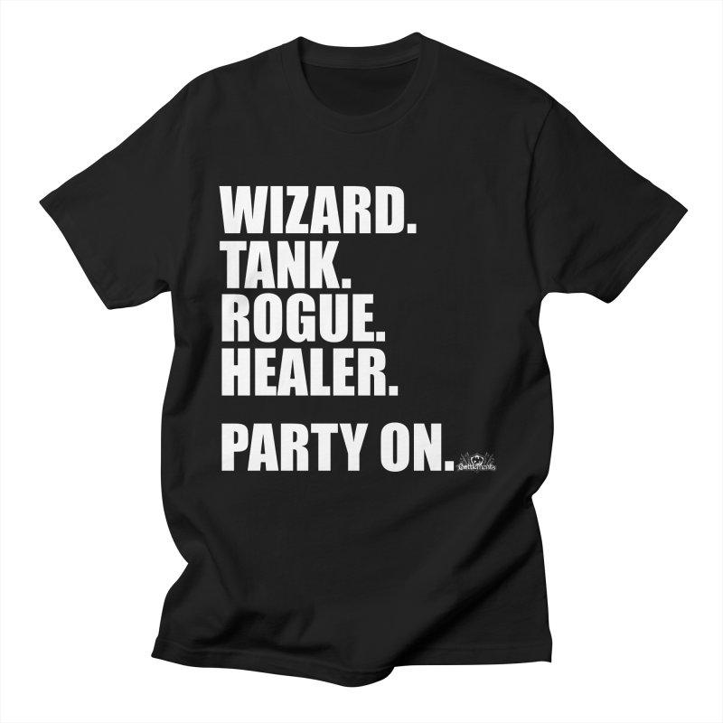 Party On Men's T-Shirt by jrieman's Artist Shop