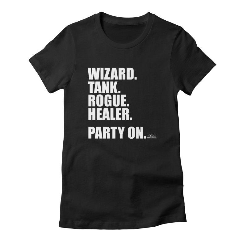 Party On Women's T-Shirt by jrieman's Artist Shop