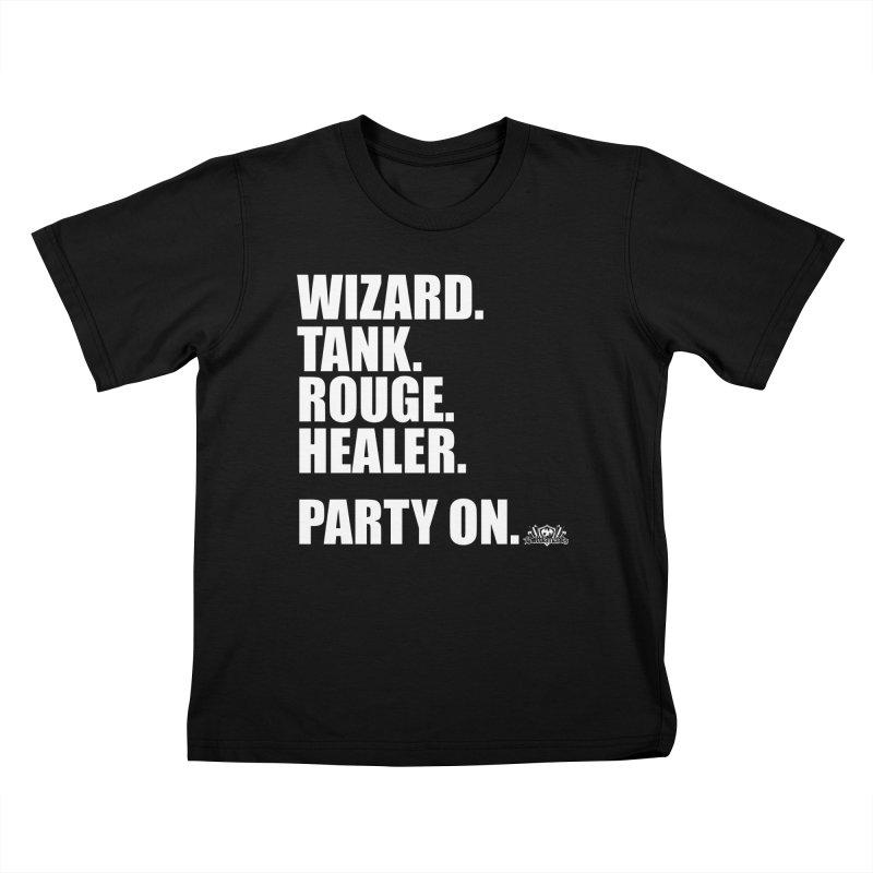 Party On Kids T-Shirt by jrieman's Artist Shop