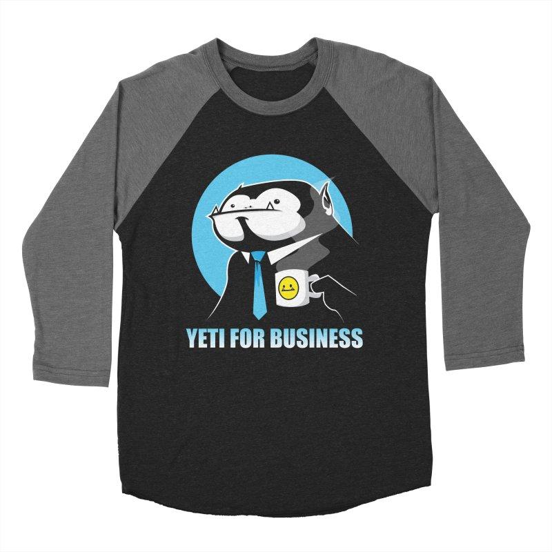 Yeti for Business Women's Baseball Triblend T-Shirt by jrieman's Artist Shop