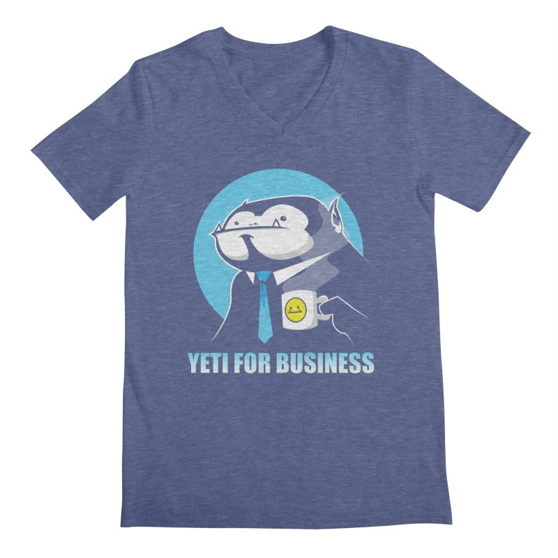 Yeti for Business Men's V-Neck by jrieman's Artist Shop