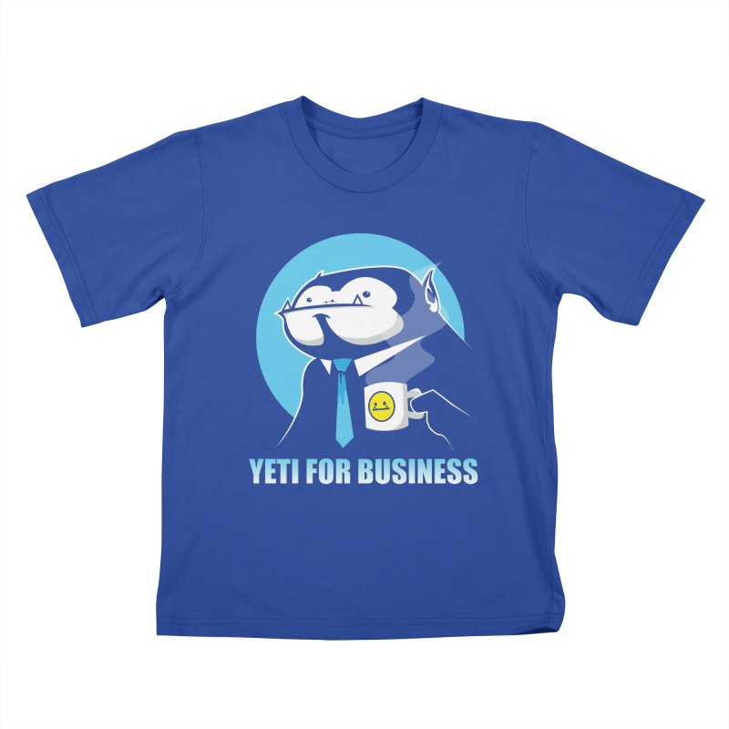 Yeti for Business Kids T-shirt by jrieman's Artist Shop