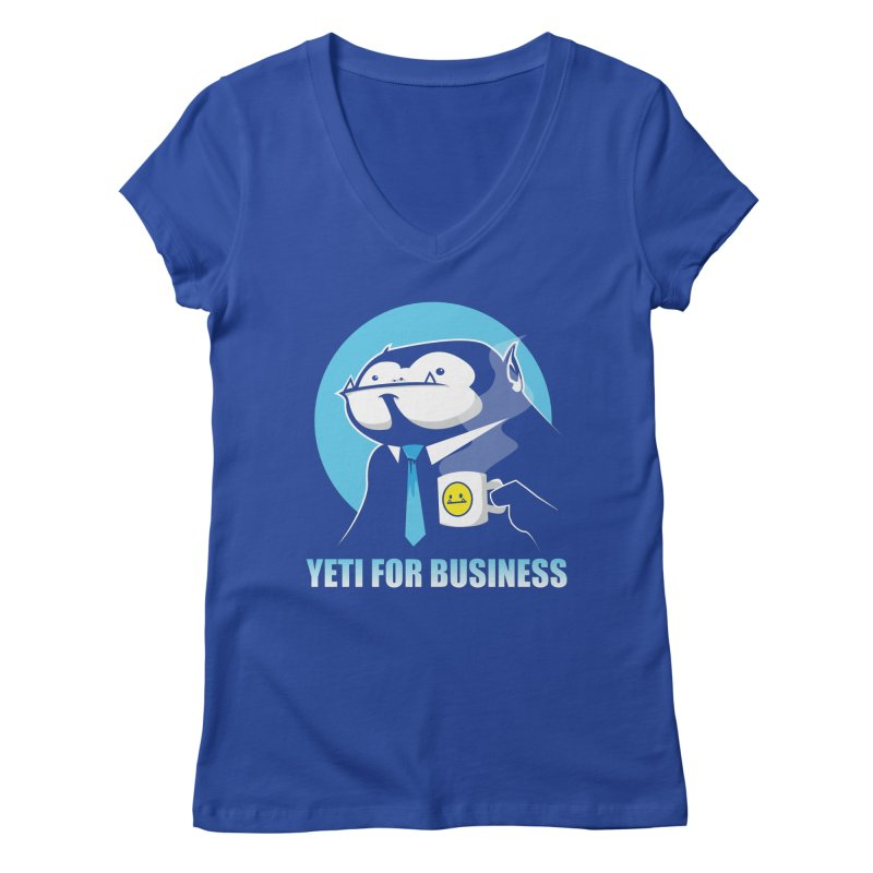 Yeti for Business Women's V-Neck by jrieman's Artist Shop