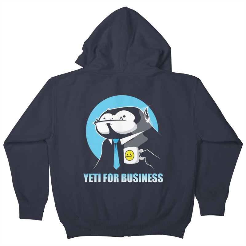 Yeti for Business Kids Zip-Up Hoody by jrieman's Artist Shop