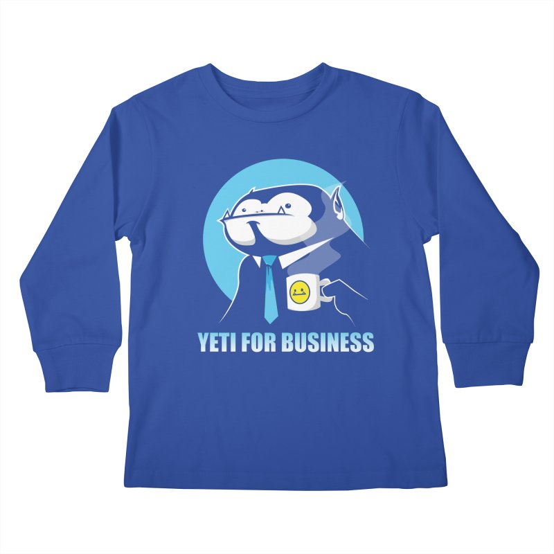 Yeti for Business Kids Longsleeve T-Shirt by jrieman's Artist Shop