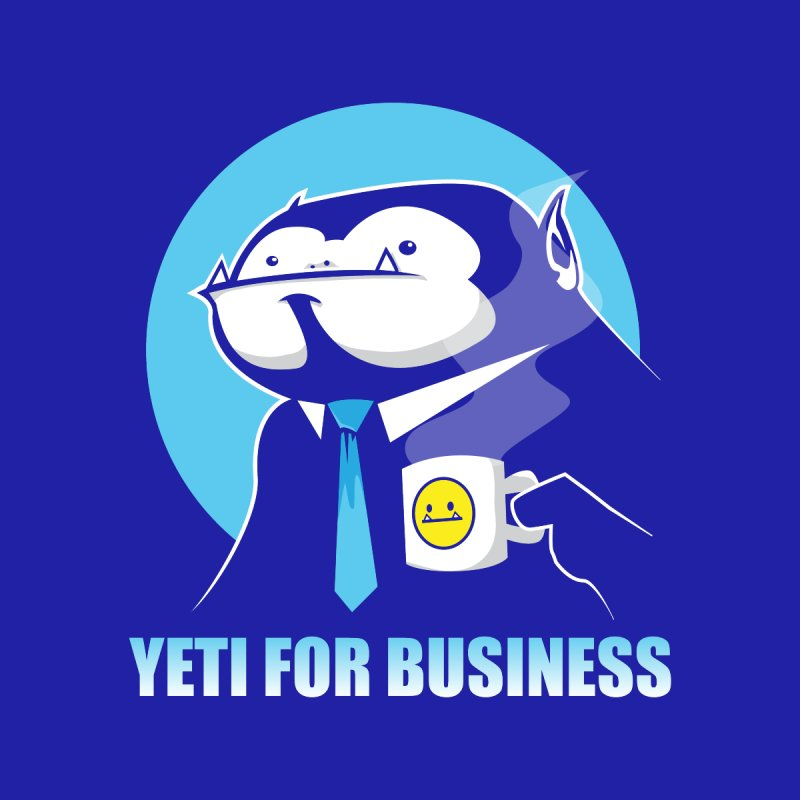 Yeti for Business Men's T-Shirt by jrieman's Artist Shop