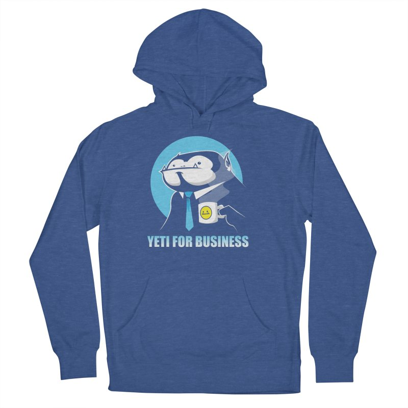 Yeti for Business Men's French Terry Pullover Hoody by jrieman's Artist Shop