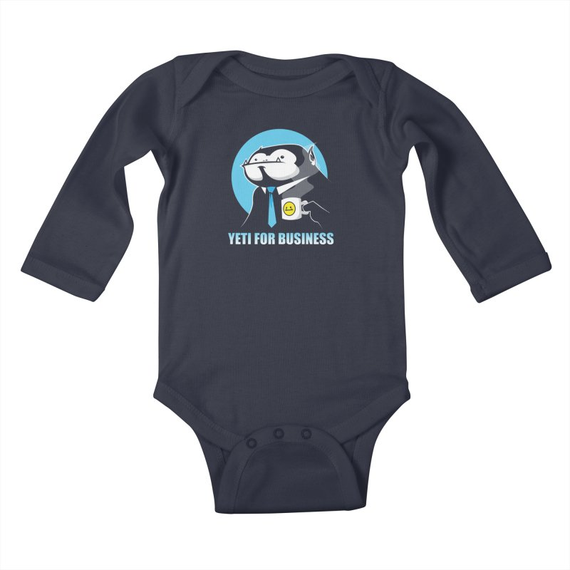 Yeti for Business Kids Baby Longsleeve Bodysuit by jrieman's Artist Shop