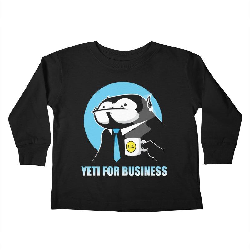 Yeti for Business Kids Toddler Longsleeve T-Shirt by jrieman's Artist Shop