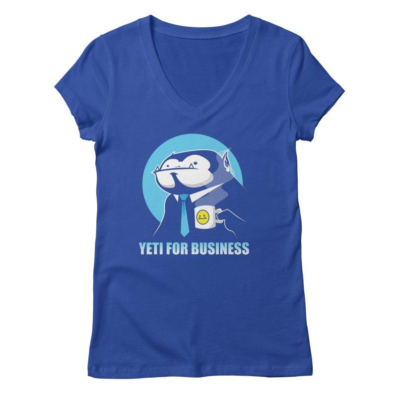 Yeti for Business Women's Regular V-Neck by jrieman's Artist Shop