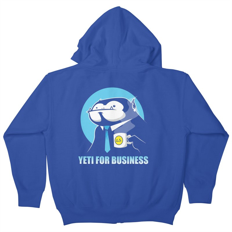 Yeti for Business Kids Zip-Up Hoody by jrieman's Artist Shop