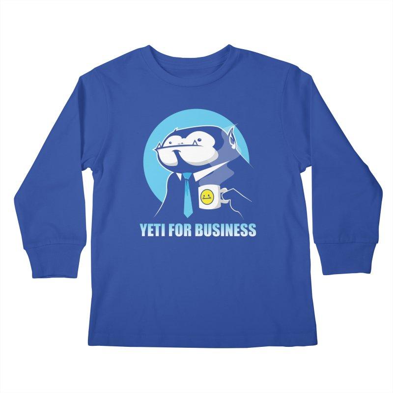 Yeti for Business Kids Longsleeve T-Shirt by jrieman's Artist Shop