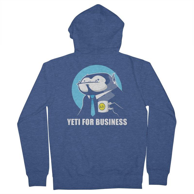 Yeti for Business Men's Zip-Up Hoody by jrieman's Artist Shop