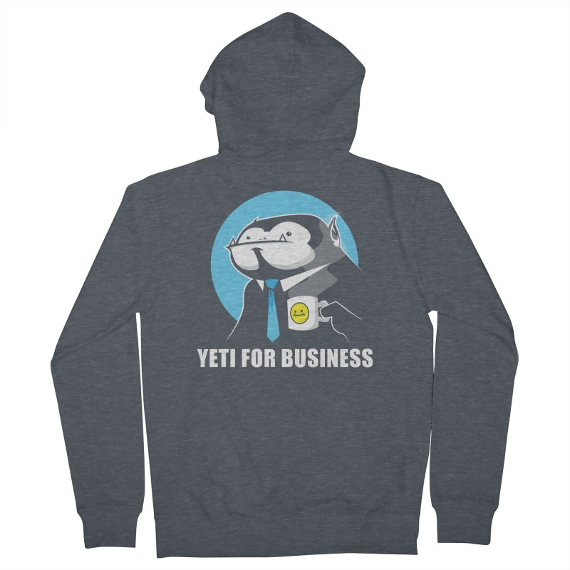 Yeti for Business Women's French Terry Zip-Up Hoody by jrieman's Artist Shop