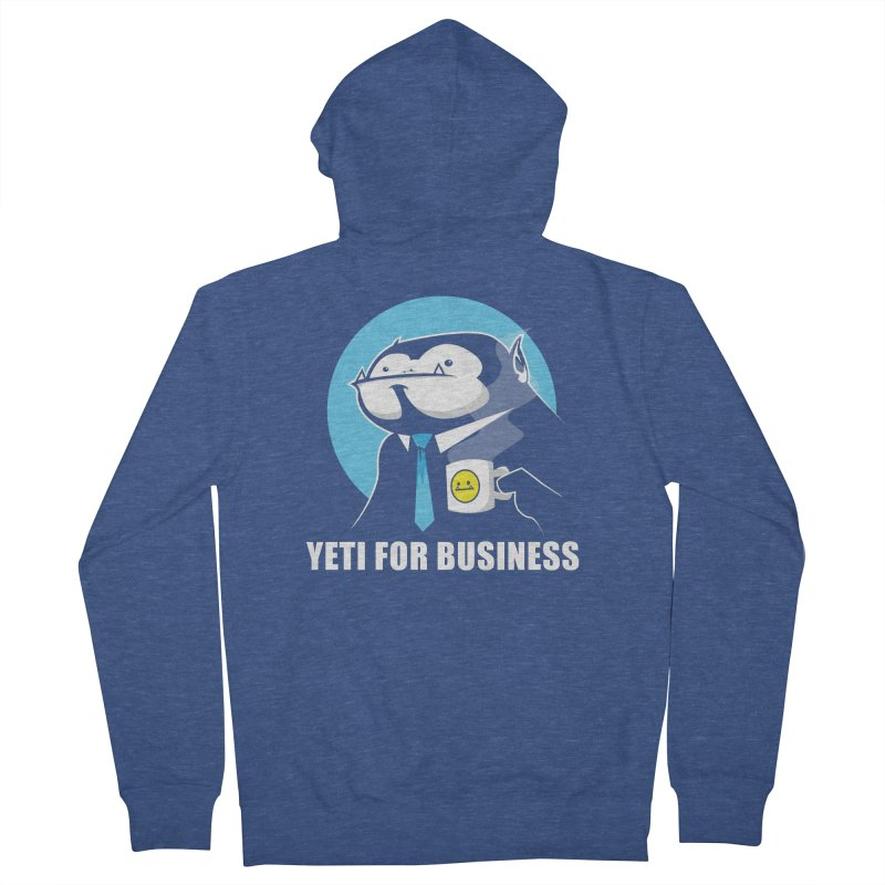 Yeti for Business Men's French Terry Zip-Up Hoody by jrieman's Artist Shop