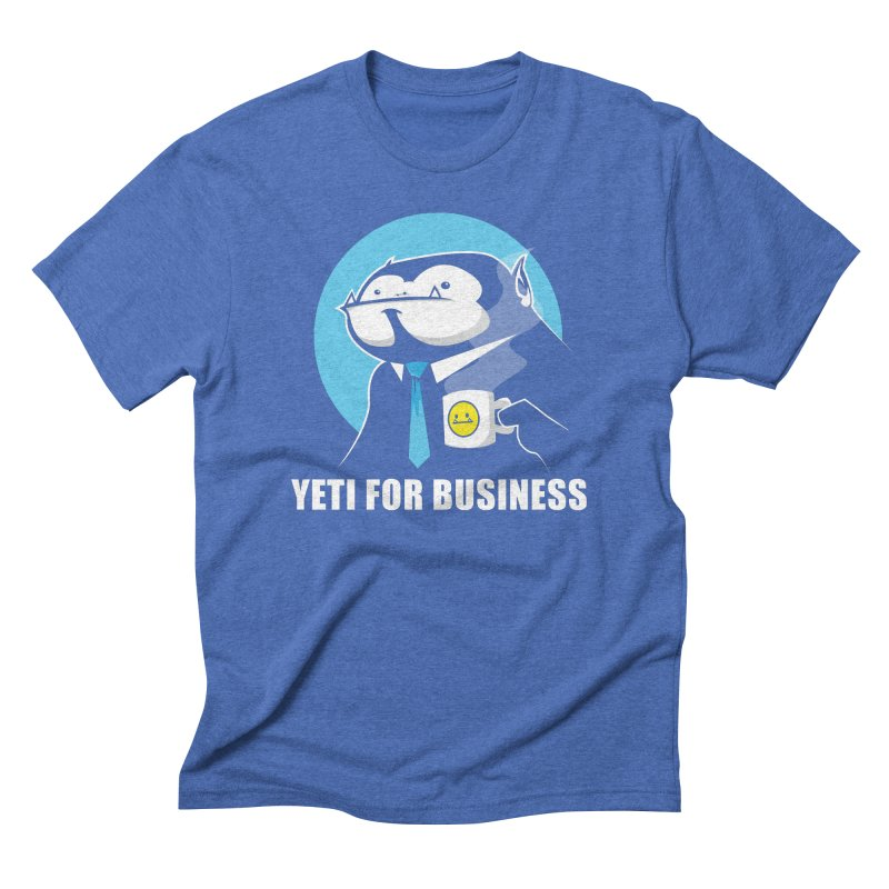 Yeti for Business Men's Triblend T-Shirt by jrieman's Artist Shop