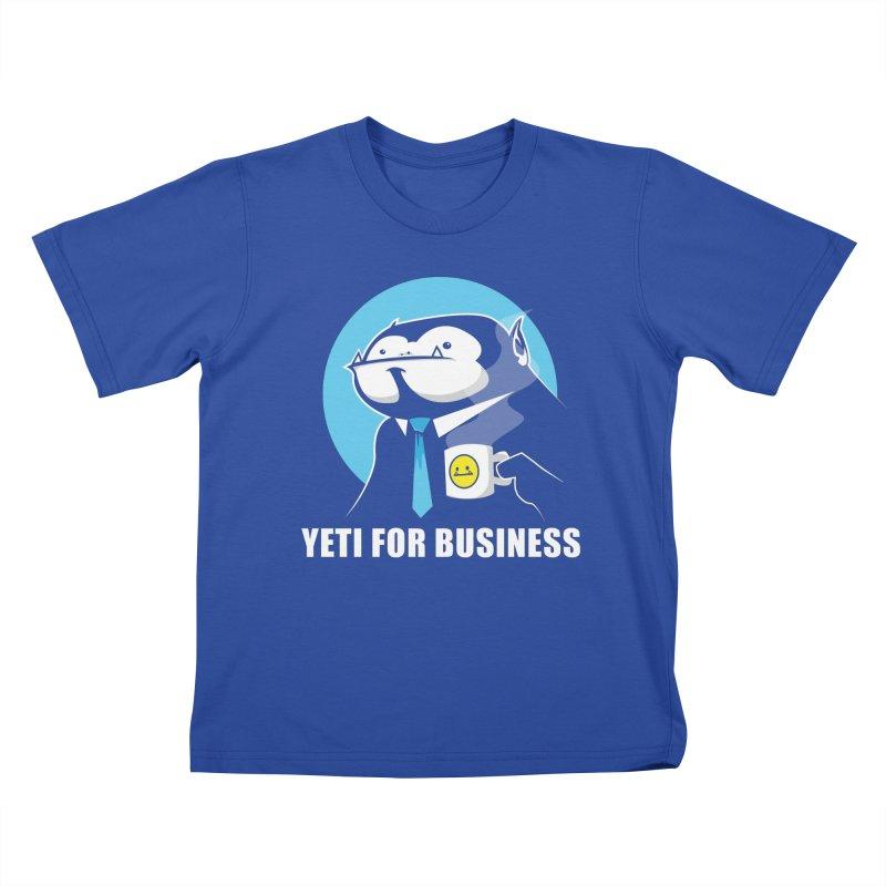 Yeti for Business Kids T-Shirt by jrieman's Artist Shop