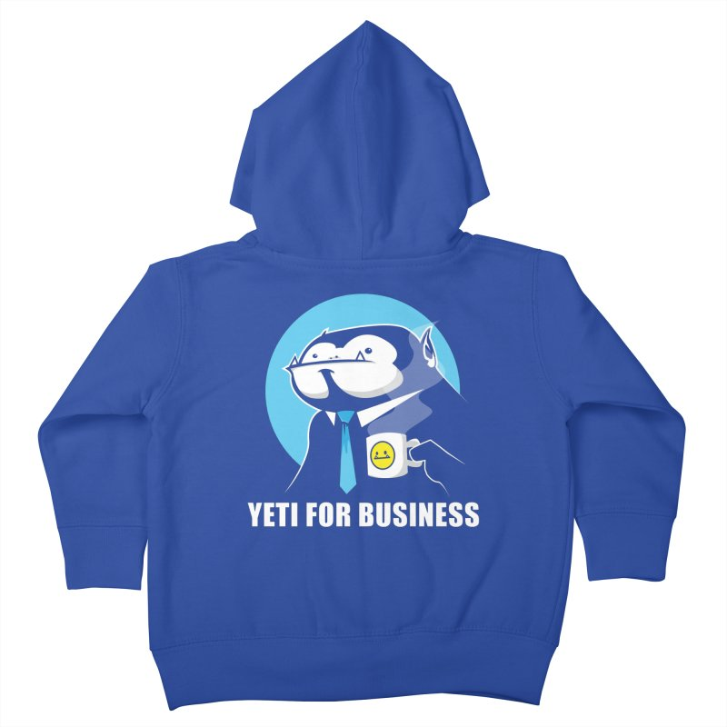 Yeti for Business Kids Toddler Zip-Up Hoody by jrieman's Artist Shop