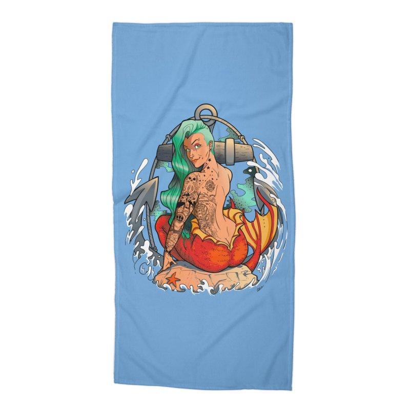 Mermaid Ink Accessories Beach Towel by jrieman's Artist Shop