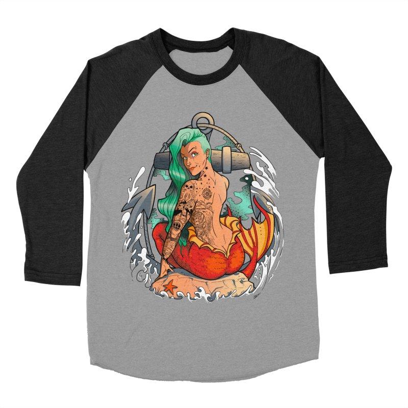 Mermaid Ink Women's Baseball Triblend T-Shirt by jrieman's Artist Shop