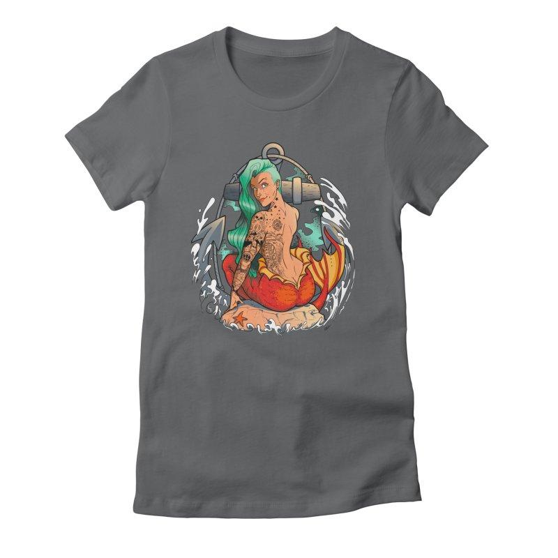 Mermaid Ink Women's Fitted T-Shirt by jrieman's Artist Shop