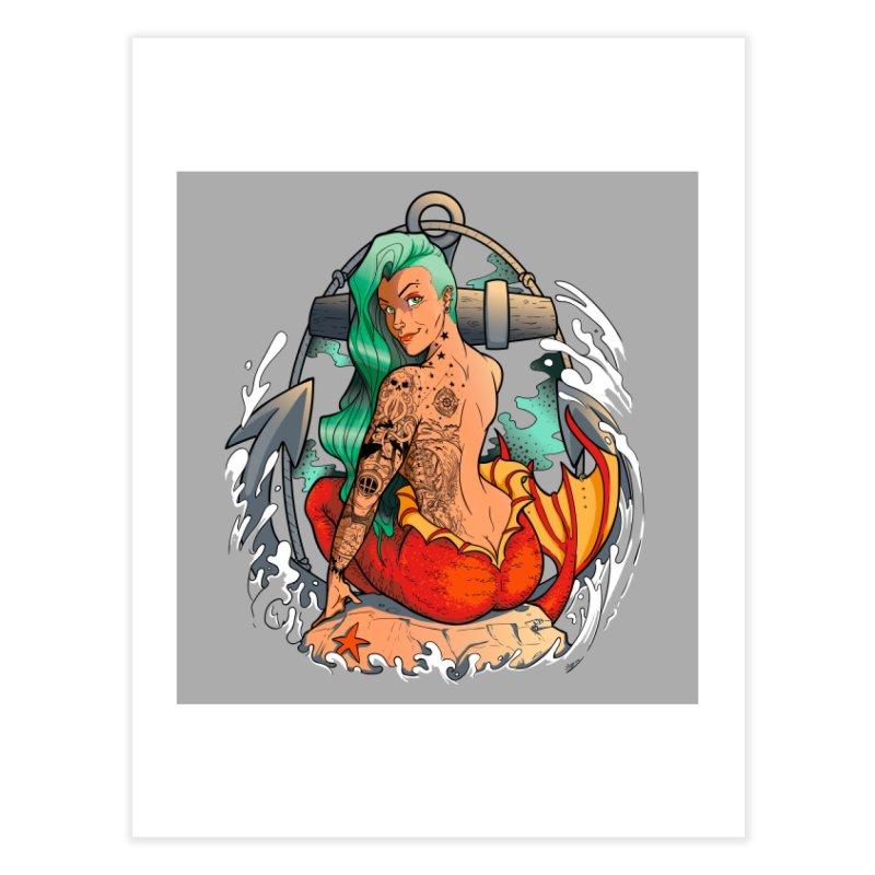 Mermaid Ink Home Fine Art Print by jrieman's Artist Shop