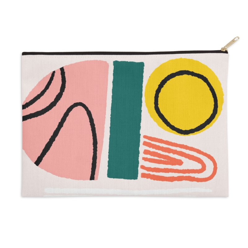 Regnbogi I Accessories Zip Pouch by Jenny Rose Mikac