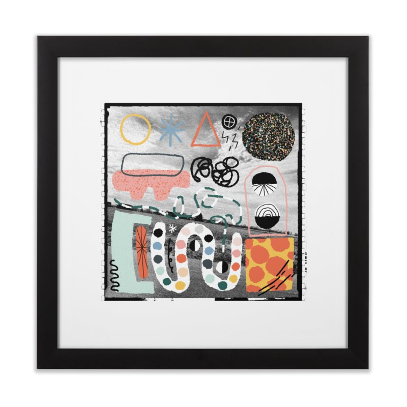 Square No. 12 Home Framed Fine Art Print by Jenny Rose Mikac