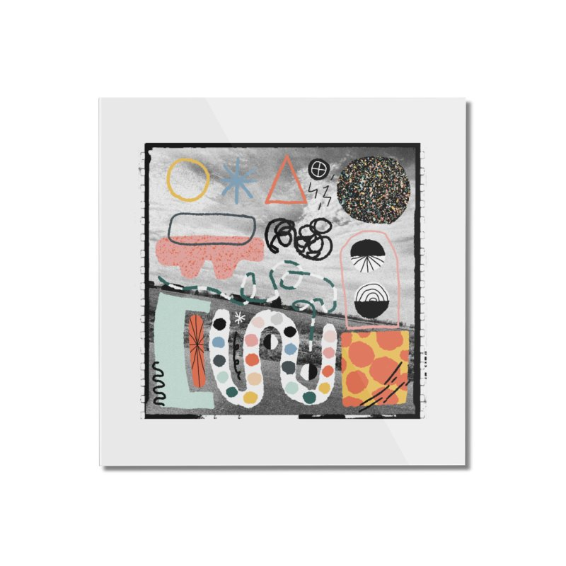 Square No. 12 Home Mounted Acrylic Print by Jenny Rose Mikac