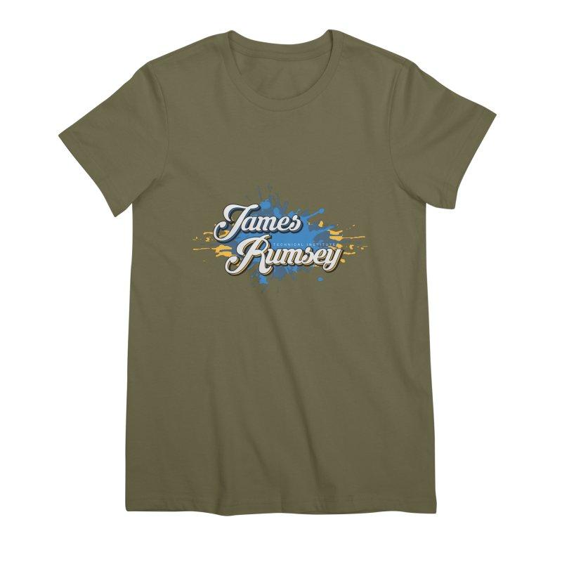 JRTI Splatter Women's Premium T-Shirt by James Rumsey Technical Institute