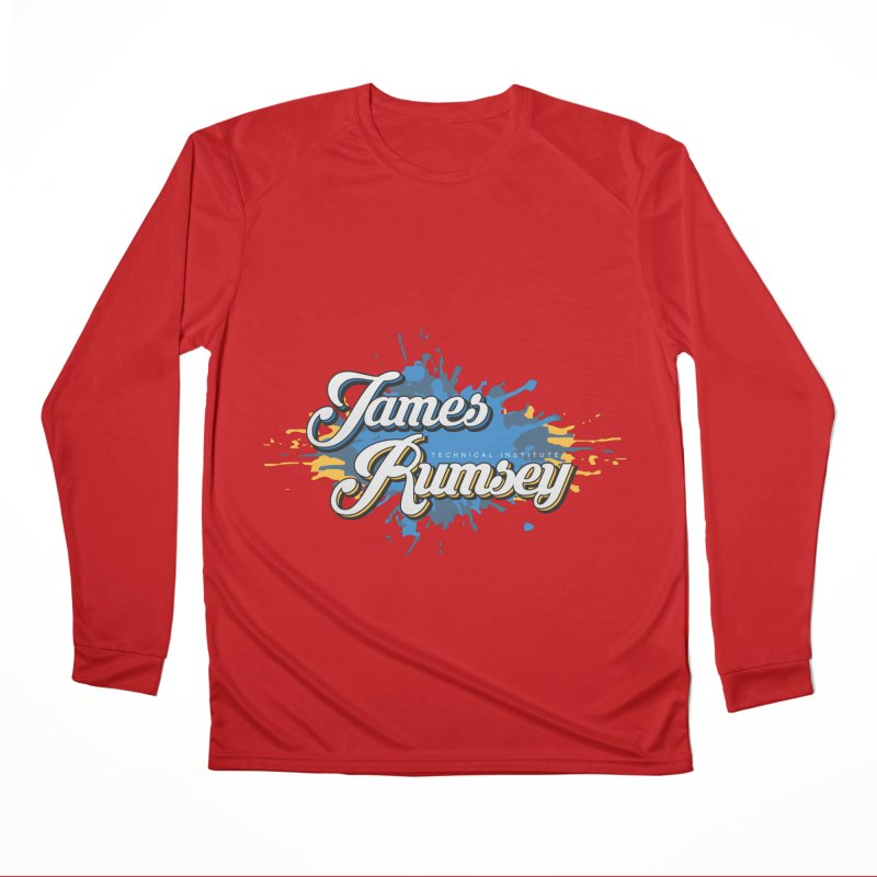 JRTI Splatter Men's Performance Longsleeve T-Shirt by James Rumsey Technical Institute