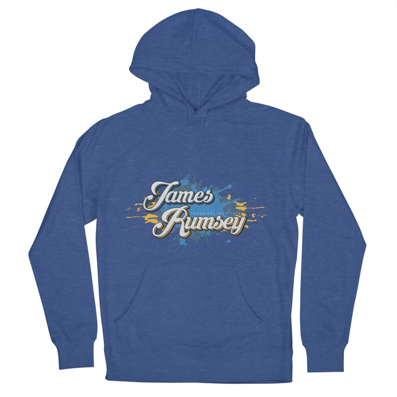 JRTI Splatter Men's French Terry Pullover Hoody by James Rumsey Technical Institute