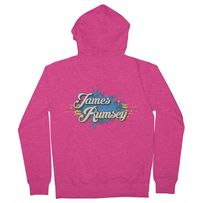 JRTI Splatter Women's French Terry Zip-Up Hoody by James Rumsey Technical Institute